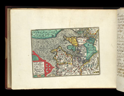 Map of western Scotland, from Atlas of the British Isles, Pieter Van Den Keere
